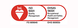 ISO 9001 + OHSAS 18001 graphic